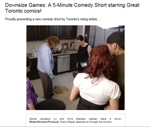 Comedy Uncovered Downsize Games